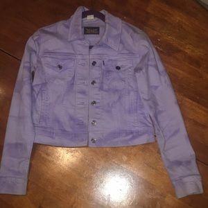 Purple tye die levi jean jacket